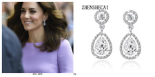 Vintage Style Kate Middleton Water Drop Earrings - 12ct cz tw #3-12