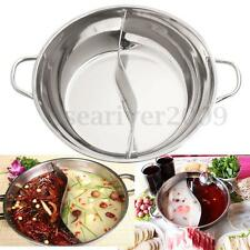 Stainless Steel Twin Divided Cookware Shabu-Shabu Induction Hot Pot Cooking Tool