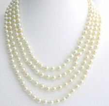 Long Pearl Necklace hand knotted100 inches Necklace Pearl Statement Necklace