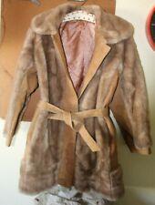 VINTAGE Lilli Ann Faux Fur & Leather Coat. 70's. NICE!