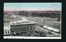 Forest City Iowa IA 1911 Main Street Birds Eye View, First National Bank, Stores