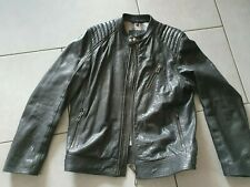 Belstaff black leder leather   jacke XXL XXXL IT 56 l jacke  3xl