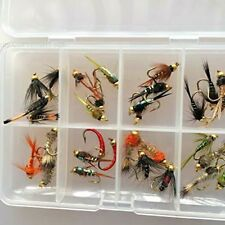 Fliegen Fischen Nymphe Bead Kopf Auswahl 32 Im Lieferumfang Gratis Box #341