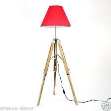 NAUTICAL TRIPOD FLOOR LAMP LIGHTING  WOODEN TRIPOD LAMP STAND HOME DECOR.