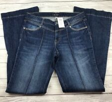 Cache Boot Cut Jean Womens 10 Cotton Embellished Pockets Flare Pin Tuck $118 New