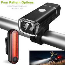 Neu, LED USB Fahrradlicht Fahrradbeleuchtung Scheinwerfer Rücklicht Set DE