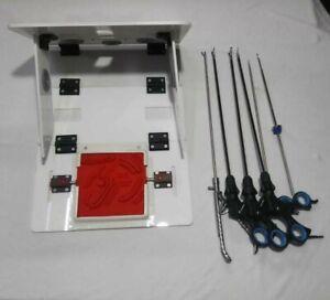 Laparoscopic Training Box Virtual Endo Trainer Foldable In Carry Instruments Set