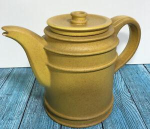 """Portmeirion """"Meridian"""" Susan Williams-Ellis Yellow Tea Pot"""