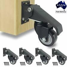 4pc Workbench Caster Kit Heavy Duty Castor Wheels Work Bench Furniture Table DIY