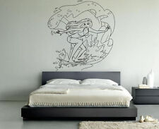 Vinyl Wall Decor Decal Sticker Design Style Surfing Girl Surf Sea VY271