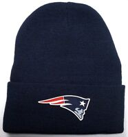 READ LISTING! New England Patriots HEAT Applied Flat Logo on Beanie Knit Cap hat