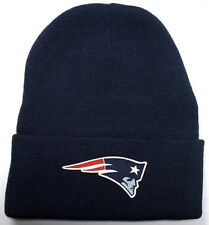 READ LISTING! New England Patriots HEAT Applied Flat Logo on Beanie Knit Cap hat