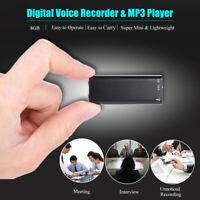 Mini Registratore Digitale 8GB USB Vocale Ricaricabile musica mp3 Giocatore C7V2
