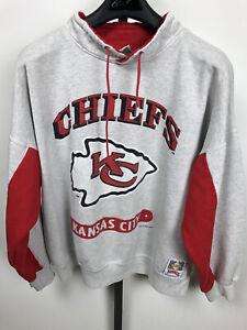 A1 Kansas City Chiefs Sweatshirt 90s Vintage Nutmeg Mills Mens XL Gray Vtg NFL
