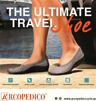Arcopedico L14 comfort slip on shoes - Black White Diamond