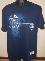 NEW NY New York Yankees Adult Mens Sizes S-L Majestic Shirt