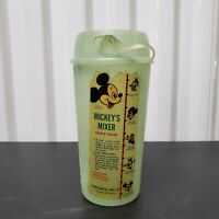 VTG Disney Mickey's Mixer Hot Cold Drink Container Shaker Plastic 1960's MCM