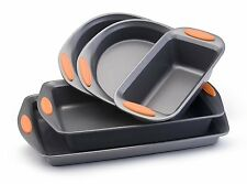 Non-Stick Bakeware Set, 5-Piece, Oven Safe, Wide Handles, Silicone Grips, NEW