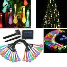 Solar Garden String Lights Fairy 20/30/50 Led Outdoor Party Hot Sale Drop S1Y8