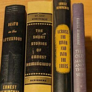 Ernest Hemingway - Lot of 4 Vintage Books - Short Stories, Trees, Death & Sea