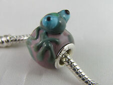 925 SILVER CORE MURANO FROG ANIMAL BEAD EUROPEAN STYLE CHARM BRACELETS AB-120