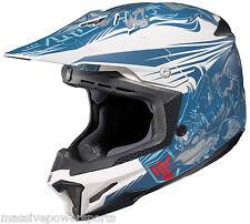 HJC CL-X7 Motocross Helmet EL LOBO Matte Blue XXXXXL 5X 5XL XXXXX ATV Off Road