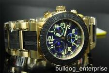 Mens Invicta 6142 Reserve Ocean Reef Gold Plated Swiss Chronograph Watch New