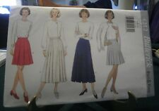 MISSES A-LINE SKIRT PATTERN BUTTERICK 4212 VERY EASY 1995