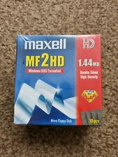 More details for maxell mf2hd 1.44mb micro floppy discs. pack of 10 double sided high density new