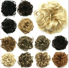 Fashion Women Lady New Pony Tail Hair Extension Bun Hairpiece Scrunchie 21