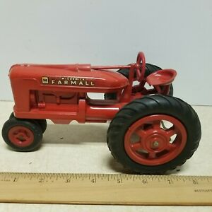 """Toy Vintage  Product  Miniature  Farmall """"M"""" Plastic Tractor"""
