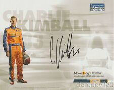 """2015 Charlie Kimball signed Novo Nordisk """"1st issued"""" Chevy Indy Car postcard"""