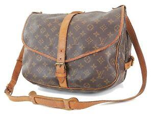 Authentic LOUIS VUITTON Saumur 35 Monogram Crossbody Shoulder Bag Purse #38574