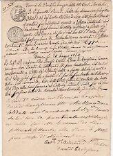 * Italie 1836 ITALY M/S documento-FIRENZE-FIRENZE-Stati italiani 2 Compresse
