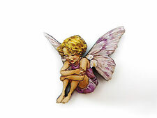 Flower FAIRIES el Hada Colorido De Broche Pin Candytuft pinklilac Flor
