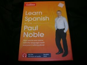 COLLINS LEARN SPANISH with PAUL NOBLE ( 12 CDs and 1 book )