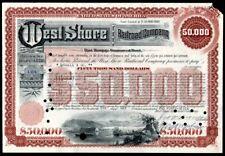 Wholesale lot of 10 West Shore Railroad Company Bond Stock Certificates