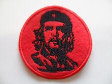 CHE GUEVARA toppa ricamata TONDA rossa  patch CUBA broderie embroidery CASTRO
