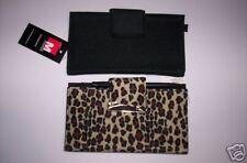 2 WOMEN'S Microfiber CHECKBOOKS/WALLETS: Leopard &Black