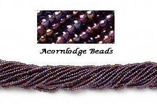 Vtg 1 HANK PURPLE MATTE AB 11//0 GLASS SEED BEADS end of stock #071313n