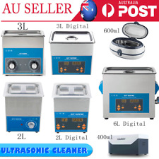 2L/3L Digital Ultrasonic Cleaner Heater Timer Ultra Sonic Tank Cleaning UV LIGHT