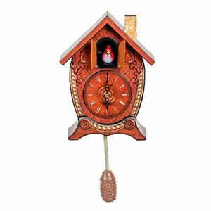 Traditional Chalet Style Singing Cardinal Tabletop Wall Sound Cuckoo Clock