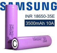 1 Pair 18650 2600/3500mAh ICR 3.7V 26F Li-ion Rechargeable High Drain Battery