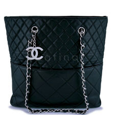 Chanel Black Calfskin In Business Quilted Tote Bag SHW 62920