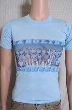 Vtg 77-78 Unc Tarheels team photo light blue t shirt Al Wood, Phil Ford Yl Xxs
