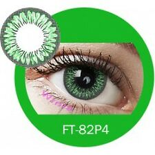 Lentilles de couleur vert 2 tons FT82P4 - green color contact lenses
