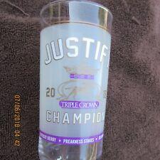 2018 Triple Crown Justify Glass