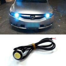 1x Car Motorcycle Ice Blue Waterproof Hawkeye COB LED DRL Backup Reversing Light