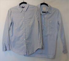 GAP Lot of 2 Chambray Blue Boyfriend Fit Button Down Shirts Tops Sz M *EUC*