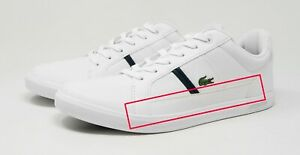 Lacoste Men's Europa 0120 1 SMA Synthetic Leather Shoes 7-40SMA00071R5 - White